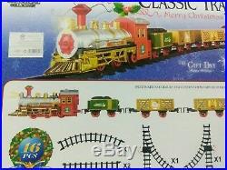 16pc Christmas Train Set Track Musical Sound Lights Around Tree Decoration Santa