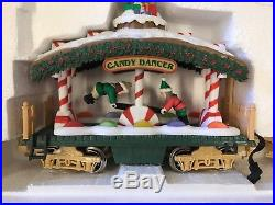 1996 New Bright Christmas THE HOLIDAY EXPRESS ANIMATED TRAIN SET No. 380 -WORKS