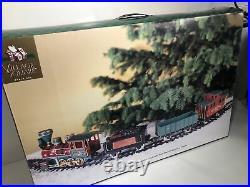 1998 Village Square 22 pc Train Set Christmas Mervyn's Smoke Never Used