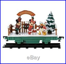 2019 Disney Parks Yuletide Farmhouse Mickey and Friends Christmas Train Set New