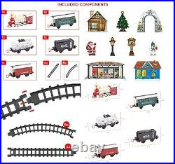 26 Pc Deluxe Santa Express Delivery Train Set Christmas Tree Sounds Lights 81020