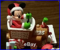 5pc Hallmark 2016 DISNEY Christmas Express Train Set Mickey Mouse Goofy Minnie +