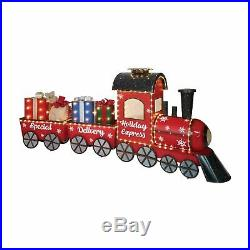 80 Pre-Lit Lighted Christmas Express Train Set Outdoor Yard Lawn Decoration