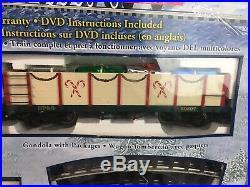 Bachmann Big Haulers Northern Lights Train Set Christmas G Scale 90061 Open Box