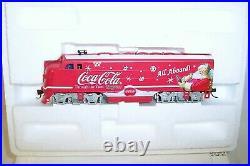 Bachmann Ho Hawthorne Coca Cola Christmas Through The Years Train Set F7b Power