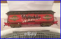 Bachmann Ho-on30 Hawthorne Village Budweiser Christmas Train Set First 4 Issues