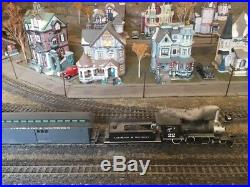 Bachmann On30 Colorado & Southern model train set and lighted christmas village