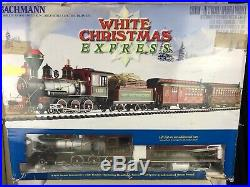Bachmann White Christmas Express G Scale Train Set In Box Locomotive Large Scale