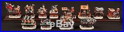 Chicago Bears (12) PC 6/6 Christmas Express / Holiday Halftime Rail Train Sets