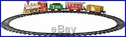 Christmas 3 Carriages Xmas Train Set Realistic Sounds Childrens Gift & Ornament