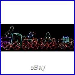 Christmas Animated Train Tree Carriage Santa LED Light Silhouette Decoration Set
