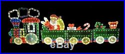 Christmas Outdoor Holiday Yard Decorations Holographic Lighted Motion Train Set