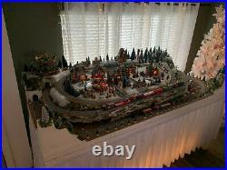 Christmas River Pass Railroad Train Set HO Scale layout