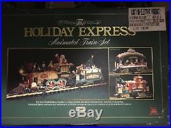 Christmas Train Set Vintage 1997 Holiday Express Animated New Bright