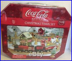Coca Cola Christmas Wooden Train Set Maxim Thomas Tank Brio Tin Carry Case Coke