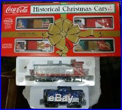 Coca Cola K-line, K-1119, Christmas Historical Holiday Train Set 0/027 Scale Nib