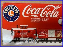 Coca-Cola Lionel Train Set G-Gauge Battery Powered Christmas New In Box! NIB