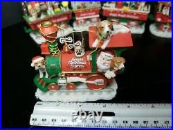 Danbury Mint Beagle Dog Christmas EXPRESS Train Set