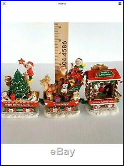 Danbury Mint English Bulldog Christmas Express Train Set In Original Packaging