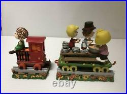 Danbury Mint Peanuts Thanksgiving Special train set Christmas Ornament Vintage