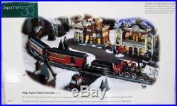 Department 56 VILLAGE EXPRESS ELECTRIC TRAIN SET (Set of 22) #52710 Christmas