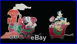 Disney Auctions Fab 5 Christmas Train 5 Pin Set
