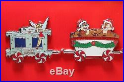 Disney Express Christmas Holiday Train LE 400 2011 Disney Boxed 6 Pin Set Rare
