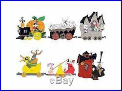 Disney Nightmare Before Christmas Jack Skellington Train pin set Of 6 LE 100