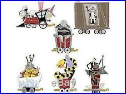 Disney Nightmare Before Christmas Jack Skellington Train pin set Of 6 LE 125