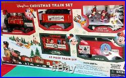 Disney Park Christmas Train Set 30 Pc New With Disney Character & Remote Control