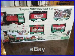 Disney Parks 30 piece Christmas Train Set Mickey Goofy Duffy Chip and Dale