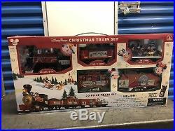 Disney Parks Christmas Train Set Mickey & Friends 30pc NIB withremote control