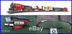 Electric Animated Christmas Train Set Jingle Bell Express Ready To Run Toy Decor