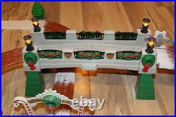 Fisher Price Geotrax Christmas Toytown Railway Railroad Train Set V2027 Complete