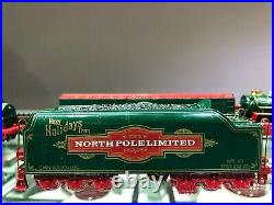 Franklin Mint 6 pc Precision Models NORTH POLE LIMITED Christmas Train Set 1998
