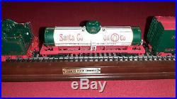 Franklin Mint North Pole Limited Train Set 4-6-4 Hudson Locomotive 6 piece HO