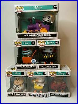Funko POP Train Nightmare Before Christmas COMPLETE SET with JACK-IN-THE-BOX