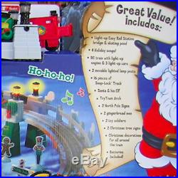 GeoTrax CHRISTMAS IN TOYTOWN Train Track Set 99% COMPLETE Remote RC Musical
