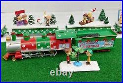 HAWTHORNE VILLAGE PEANUTS CHRISTMAS EXPRESS HO SCALE ELECTRIC TRAIN SET 9Pc RARE