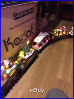 HOLIDAY EXPRESS Animated Christmas Train Set NEW BRIGHT 387 G Scale