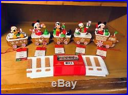 Hallmark 2016 Disney CHRISTMAS EXPRESS Train / New & Complete Set! / with tags