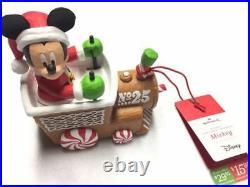 Hallmark 2016 Disney Christmas Express Train Musical Set of 6 Including Tracks