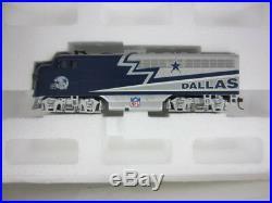 Hawthorne Village Bachmann NFL DALLAS COWBOYS HO Scale Train Set Lot Christmas