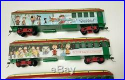 Hawthorne Village Peanuts Christmas Express Ho Scale Electric Train Set Rare