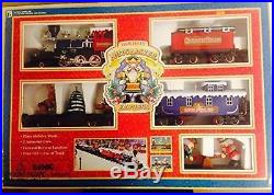 Holiday Nutcracker Express Christmas Train Set with 5 Cars Plus Track VINTAGE