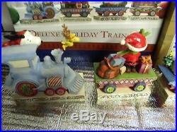 Jim Shore Peanuts Christmas Train Set with Linus, Patty & Schroeder NIB