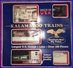 Kalamazoo Santa's Express Christmas Train Set G-Scale 1
