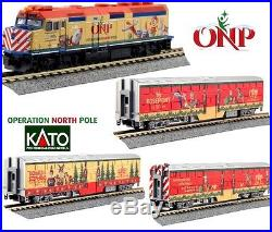 Kato 106-2015 N Scale Operation North Pole Christmas Train 4 Unit Set