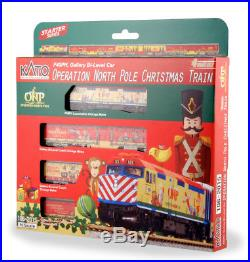 Kato N Scale 1062015 2015 Operation North Pole Christmas Train 4-Unit Set