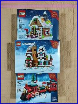LEGO 40138 Christmas Train & 40139 40337 Gingerbread Houses NEW FREE SHIPPING